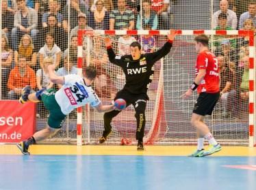 Carlos Donderis durante u partido. Imagen: Tusem Essen.