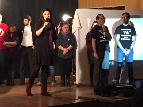 Consoli Astasio en la presentación de la candidatura de Ganemos Pinto.
