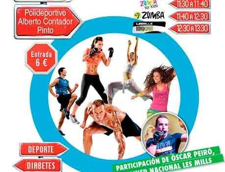 "Cartel ""Fitness, ayuda a tu diabetes"""