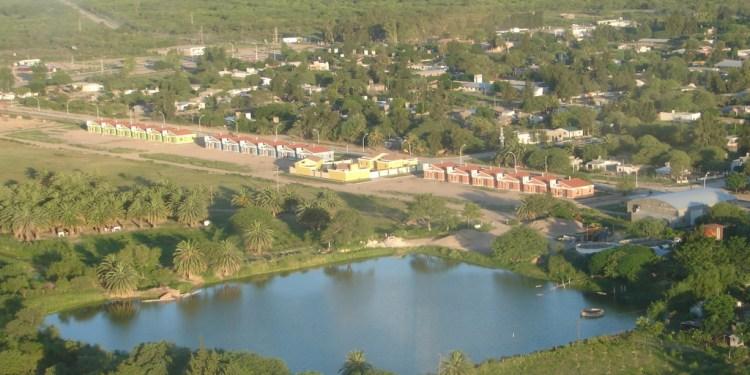 Situación de la Casa de España y las 18 viviendas construidas con los fondos de Cooperación Internacional de Pinto. Fuente:santiagolibre.superforo.net