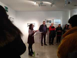Almudena García durante su charla sobre el impacto del turismo. Fotografía: Carmen Prados.