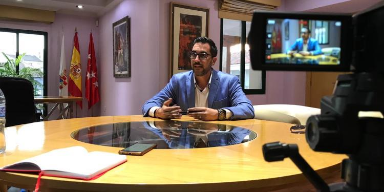 Diego Ortíz, alcalde de Pinto. Fotografía: Susana Guindo.