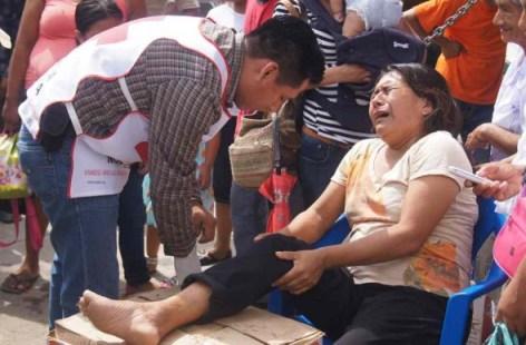 Mujer lesionada de Mapam Congregacion Mata del Tigre La Voz de Tantoyuca
