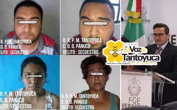 Detienen en el Norte de Veracruz a banda de secuestradores