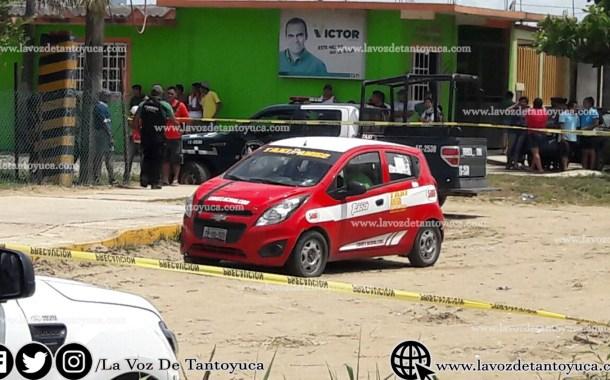 Asesinan a taxista; su acompañante resultó herido