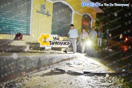 Alcalde recorre zonas afectadas en Tantoyuca. Agencia LVDT.