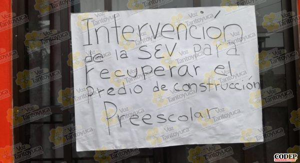 En la calle reciben clases alumnos de preescolar, en Naranjos   LVDT