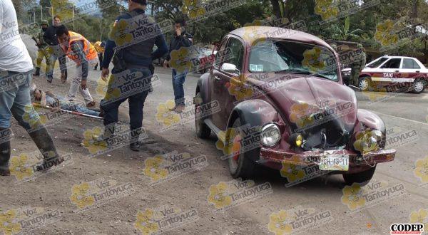 Menor de edad lesionado en aparatoso choque, en Ixcatepec | LVDT