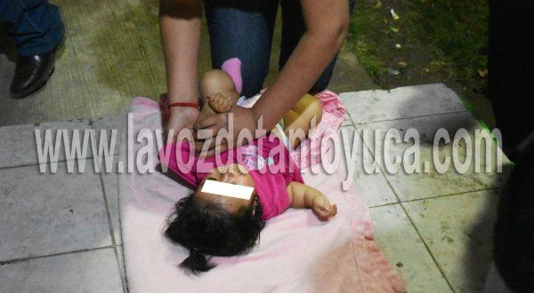 La beba resultó con golpes leves, por lo que paramédicos de la Cruz Roja la trasladaron al nosocomio local | LVDT