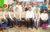 Reconocen a periodistas en el Dia de la Libertad de Expresión, en Chicontepec