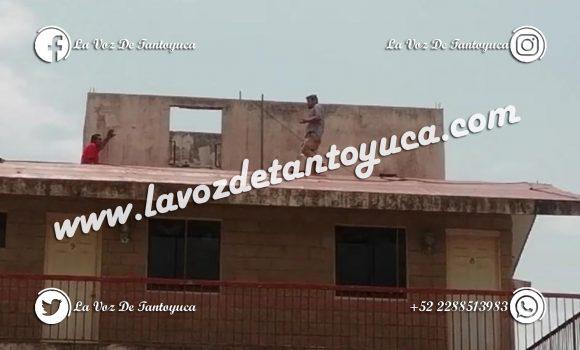 Intentó arrojarse de lo alto de un hotel; fue detenido | LVDT