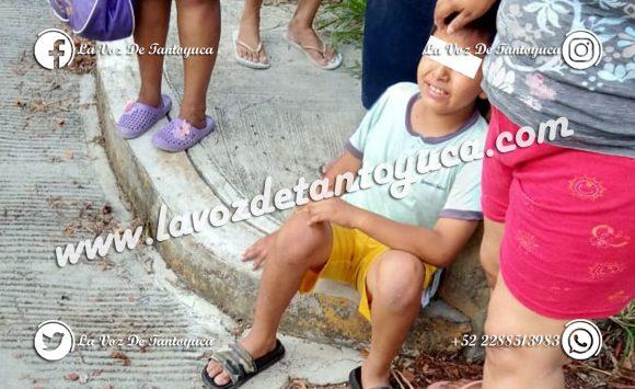 Menores lesionados en accidente vial, en Tantoyuca  |  LVDT