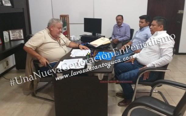 Sostiene David Guzmán reunión de trabajo con Manuel Huerta Ladrón de Guevara
