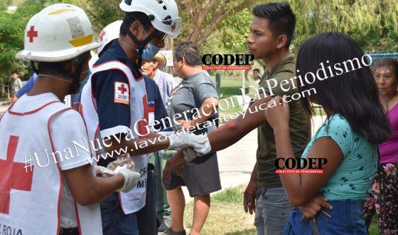 Taxista provoca aparatoso accidente vial en Tantoyuca | LVDT