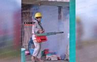 Fumigan para combatir Dengue, Zika y Chikungunya en Chicontepec