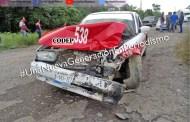 Choque de taxis en la Alazán – Canoas deja un lesionado, en Tempoal