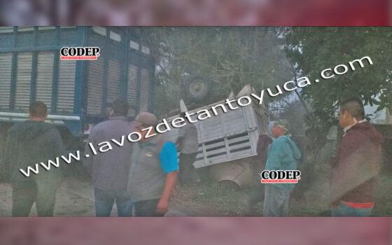 Resulta ileso tras aparatosa volcadura | LVDT