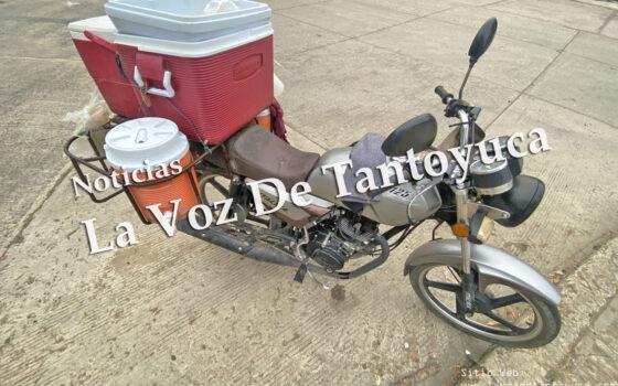 Comerciante resulta lesionado tras derrapar en su moto | LVDT