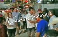 Gonzalo Vicencio y Guadalupe Argüelles amedrentan a manifestantes en Tantoyuca