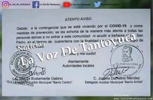 Comunidades cierran sus entradas por el COVID-19 | LVDT