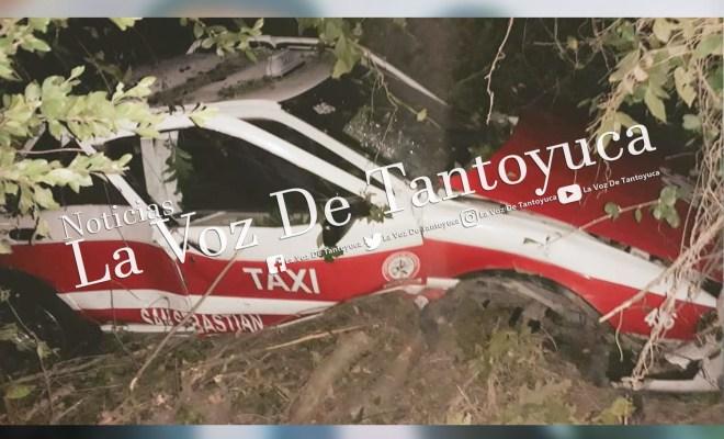 Vuelca taxi tras atropellar a un hombre en Tantoyuca | LVDT