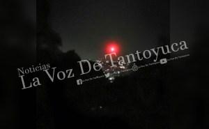 Esfera roja causó asombro en Tantoyuca | LVDT