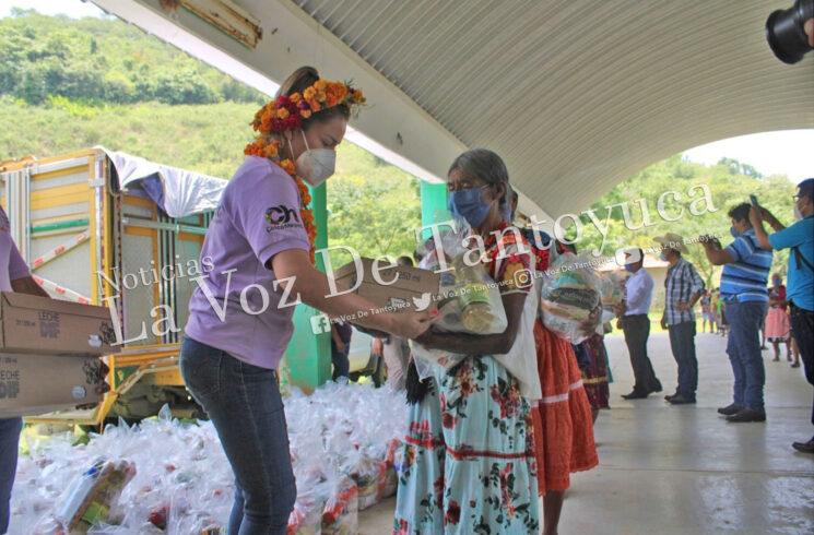 Entrega Ayuntamiento despensas a familias de Pemuxtitla y Tlaquextla por COVID-19   LVDT