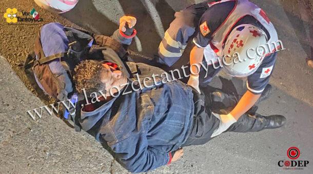 Motociclista resultó con fractura de tobillo tras derrapar | LVDT