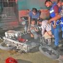 Motociclista derrapa y se impactan contra motopizzero | LVDT