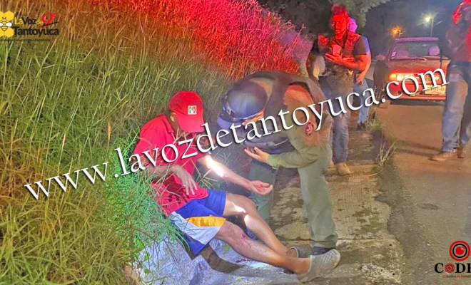Hombre resulta herido tras ser atropellado en Tantoyuca | LVDT