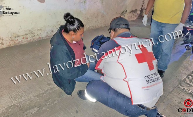 Mujer resulta lesionada en percance vial   LVDT