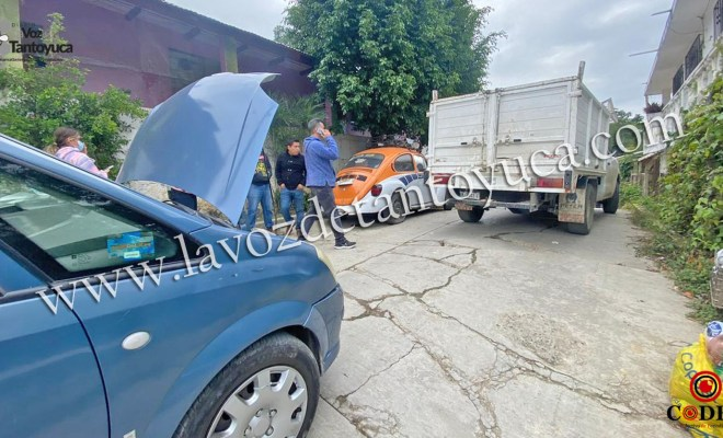 Imprudente conductor provoca percance vial   LVDT