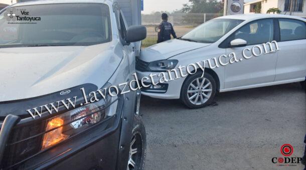 Acelerada conductora provoca percance vial, en Tantoyuca | LVDT