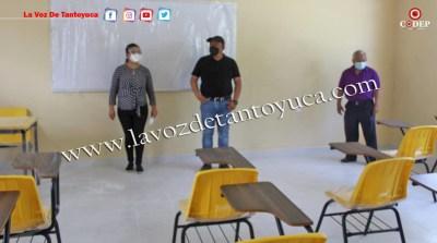 Alcalde inaugura aula escolar en Ixcatepec | LVDT
