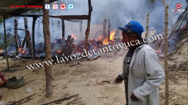 Humilde vivienda termina reducida a cenizas, en Tantoyuca | LVDT