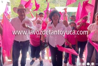 Celia Reyes inaugura su casa de campaña | LVDT