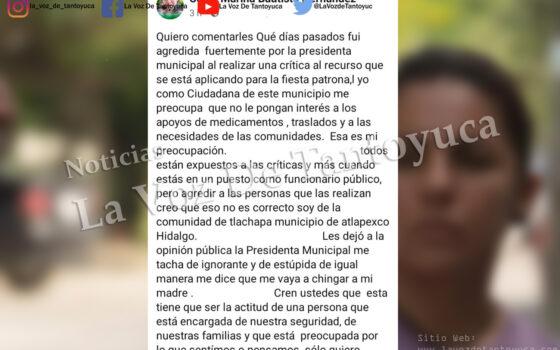 Alcaldesa le mienta la madre a ciudadana que la cuestionó | LVDT