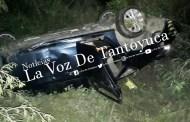 Volcadura de vehículo deja dos lesionados, en Pánuco