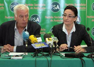Los portavoces del PSA Juan Román y Rosario Rodríguez