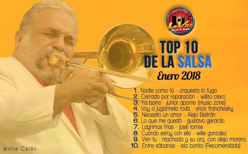 TOP 10 DE LA SALSA - ENERO 2018