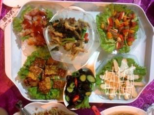Variedad de platos vegetarianos