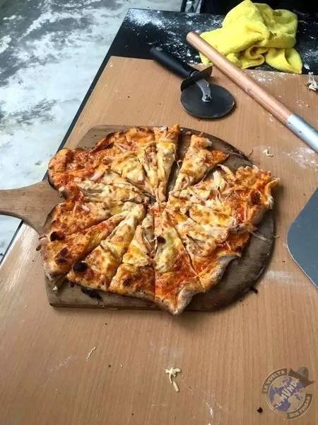 La pizza de la noche en Pingtung