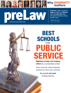 College of Law ranked sixth in the nation for Public Interest | S J