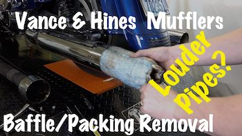 packing from vance hines mufflers pipes