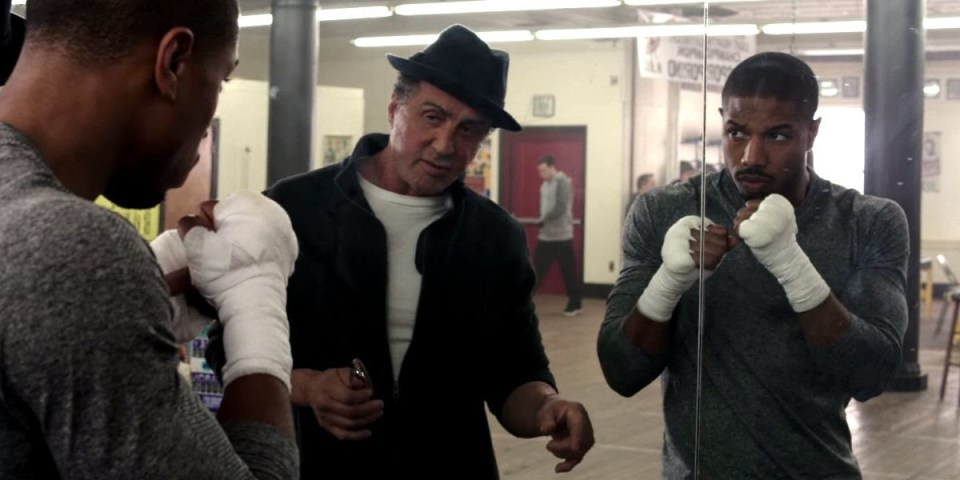 Sylvester Stallone and Michael B. Jordan in Ryan Coogler's Creed