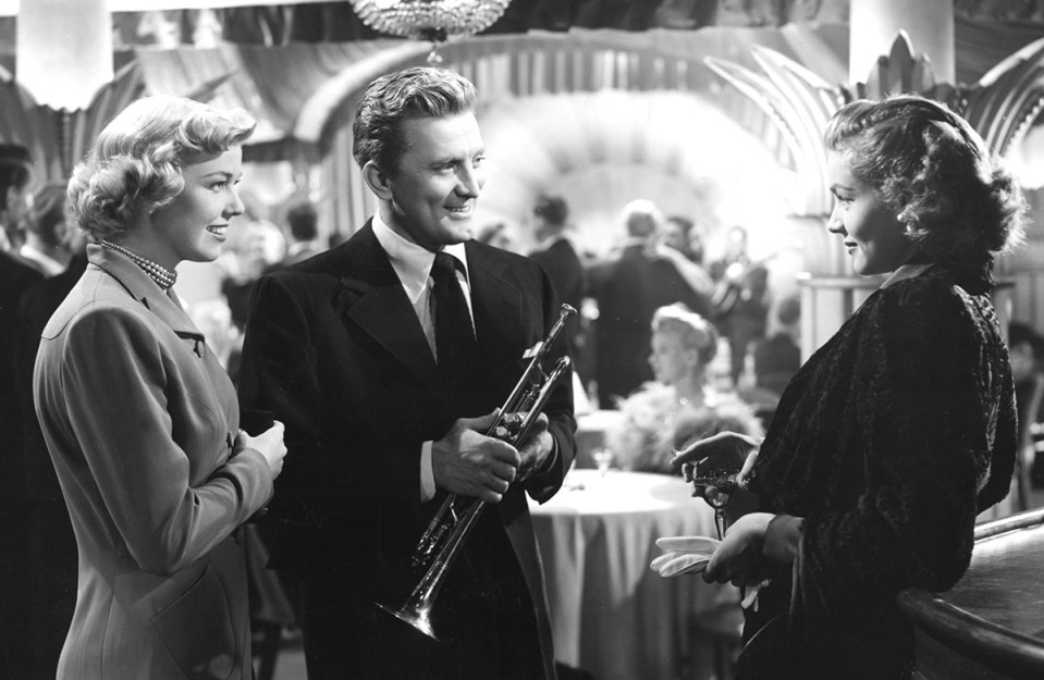 kirk douglas young man with a horn