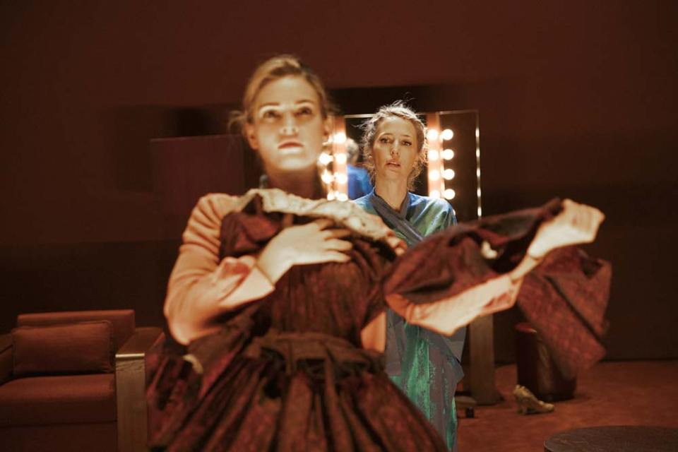Lily James and Gillian Anderson in Ivo Van Hove's All About Eve