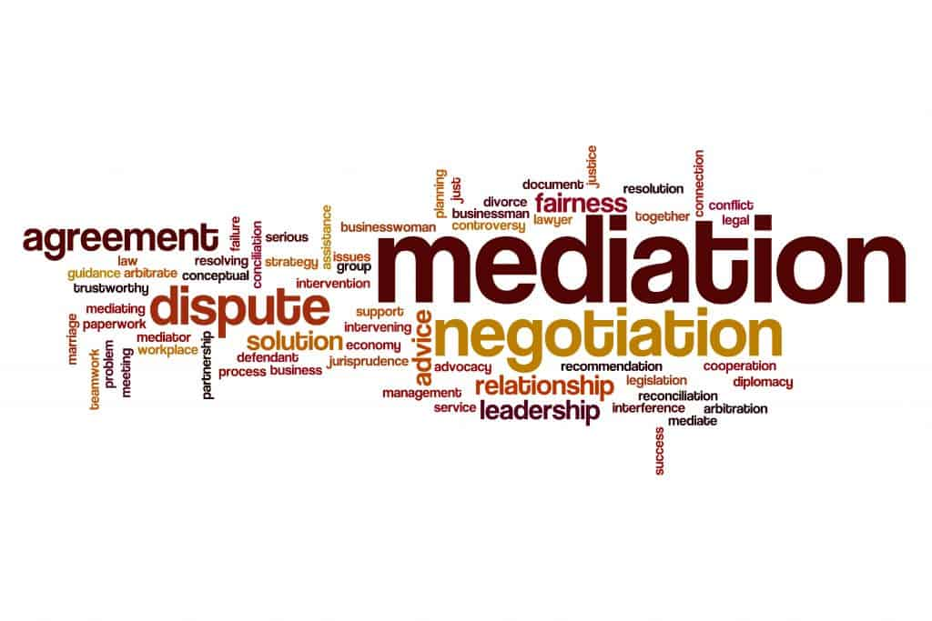 mediation word cloud 1024x683 1 THE CONTEMPORARY EVOLUTION OF MEDIATION