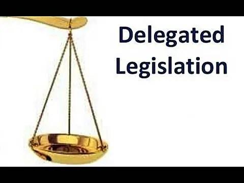 Delegated Legislation concentrate DELEGATED LEGISLATION IN INDIA