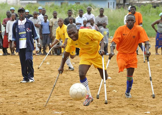 soccer disabled Human rights of physically and mentally disabled individuals